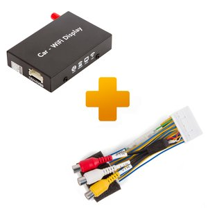 Smartphone/iPhone Wi-Fi Mirroring Adapter and Connection Cable Kit for Toyota, Citroen, Peugeot X-Touch / X-Nav Monitors