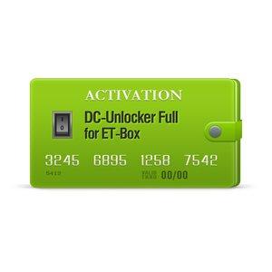 DC-Unlocker Full Activation for ET-Box