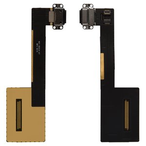 Flat Cable for Apple iPad Pro 9.7 Tablet, (charging connector, with component, black)