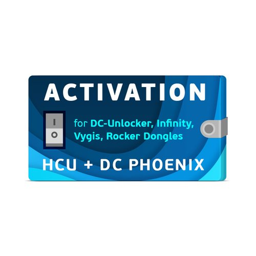 HCU + DC-Phoenix Activation for DC-Unlocker / Infinity / Vygis / Rocker Dongles