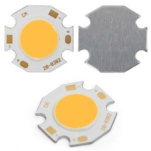 COB LED модуль 3 Вт (теплый белый, 250 лм, 20 мм, 300 мА, 9-12 В)