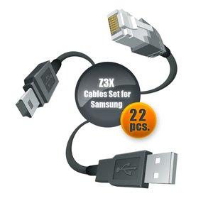 Набор кабелей для сервиса телефонов Samsung с помощью Z3X-Box (22 шт.)