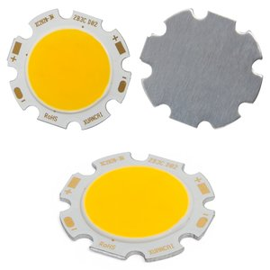 COB LED модуль 3 Вт (теплый белый, 250 лм, 28 мм, 300 мА, 9-12 В)