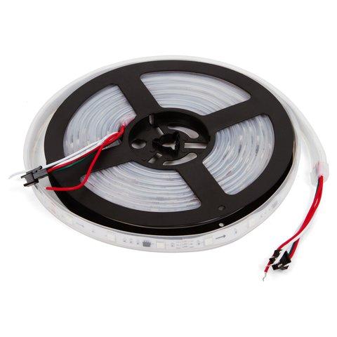 Світлодіодна стрічка RGB SMD5050, WS2811 біла, з управлінням, IP67, 12 В, 30 діодів м, 5 м