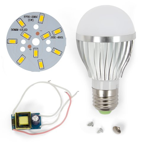 Комплект для збирання світлодіодної лампи SQ-Q02 5730 5 Вт (теплий білий, E27)