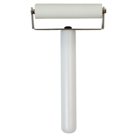 Rodillo presionador de cáucho, con manija, 70 mm
