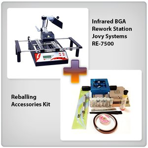 Infrared BGA Rework Station Jovy Systems RE-7500 + Reballing Accessories Kit